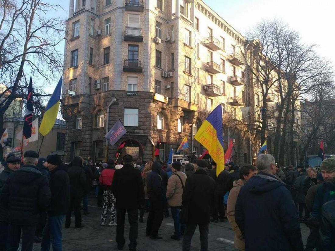 Активисты завершили акцию протеста, впроцессе стычки сполицейскими пострадал Соболев