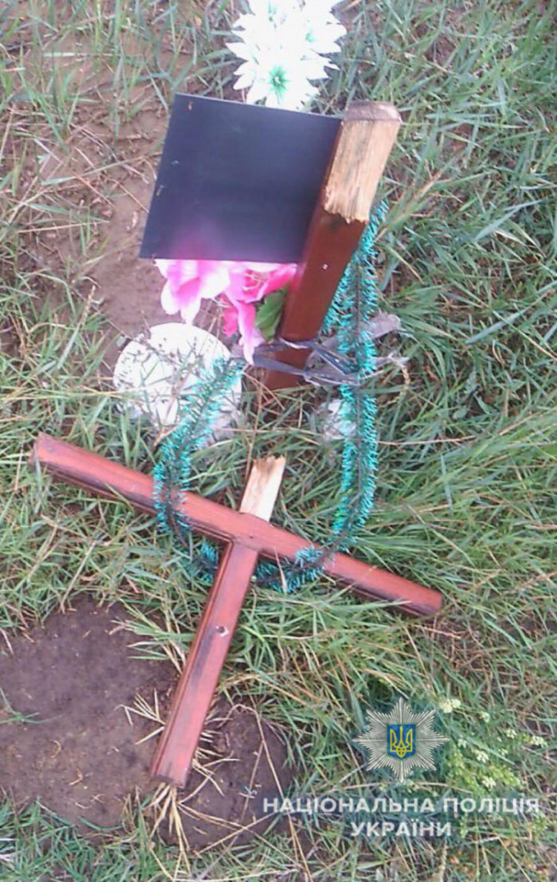 В Одесской области подросток сломал 54 могильных креста