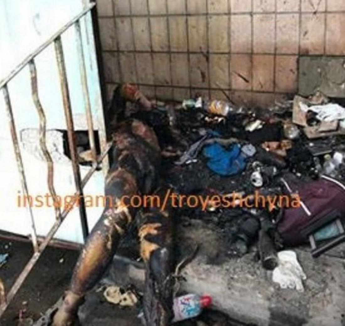 Вероятно, сгоревший мужчина являлся бездомным