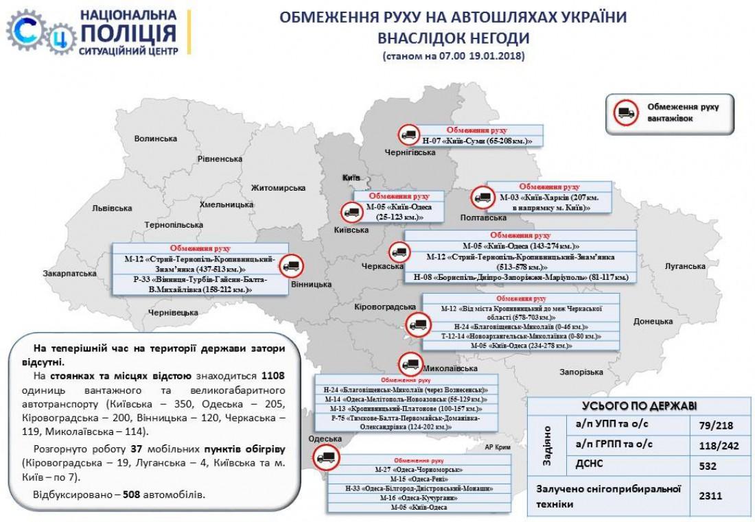 Карта ограничения движения