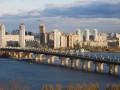 В Киеве на мосту Патона образовался
