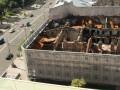 На Крещатике реконструируют сгоревший столетний гастроном