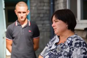 Оксана Голубенко с сыном Михаилом