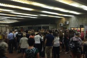 Киевляне возмущены стройкой над метро Героев Днепра