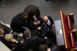 Драка депутатов в Верховной Раде