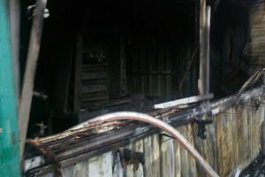 Киоск на вокзале выгорел полностью