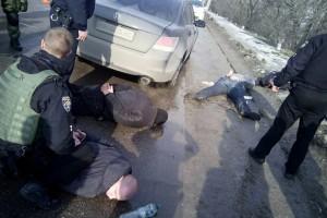 Вооруженных людей  задержала полиция