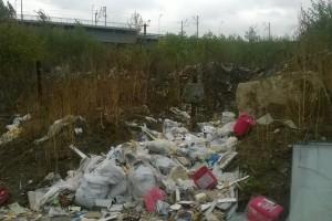 В Киеве на набережной образовалась свалка
