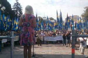 Ирина Фарион участвовала в кровавых протестах под Радой