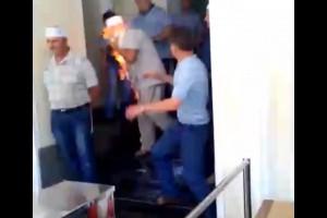 Шахтер поджог себя в здании Минэнерго