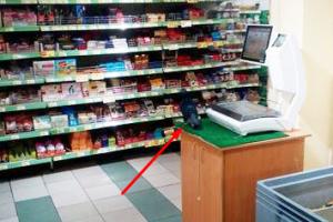 Голубь в киевском супермаркете