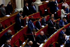 Яценко нажал кнопку в пяти местах во время голосования
