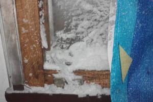 Снег в поезде Николаев-Киев