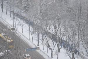 Колонны сторонников ПР в Киеве.