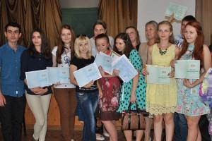 Вручение дипломов в Горловке