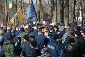 Делегатов Украинского выбора не пустили на могилу Шевченко