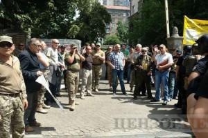 Бойцы Айдара протестуют из-за якобы обвинений в терроритзме