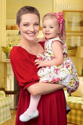 Екатерина Вилкова с дочерью