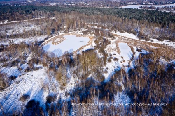 Реку Припять сковал лед