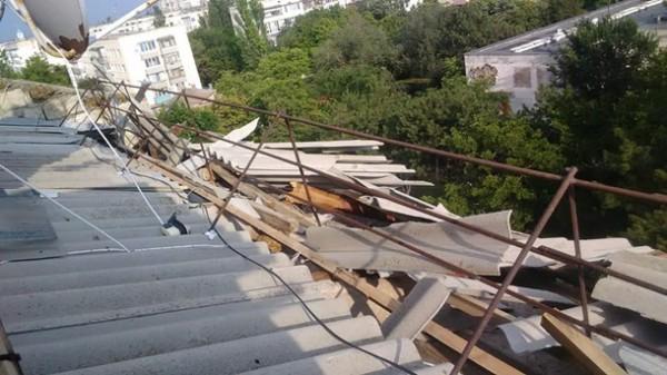 Стихия повредила крыши
