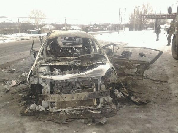 Расстрелянный автомобиль (предположительно, из