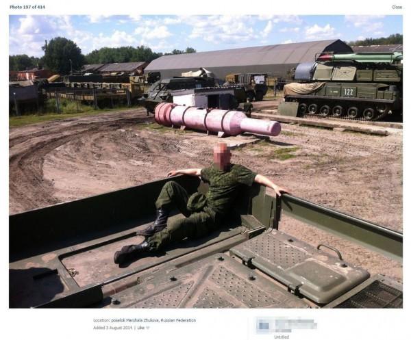 Парк техники 53-й зенитно-ракетной бригады на фотографии, загруженной курсантом 3 августа 2014 года