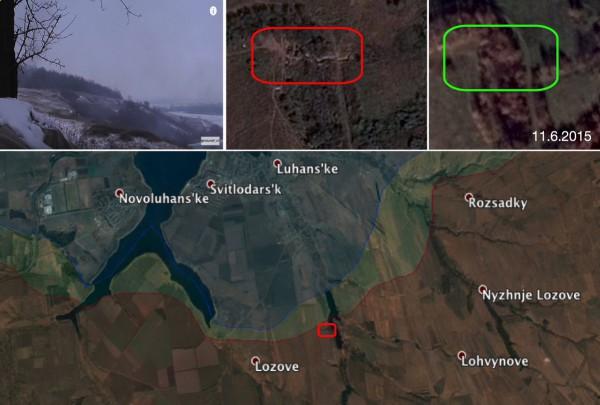 Позиции боевиков на видео Филлипса