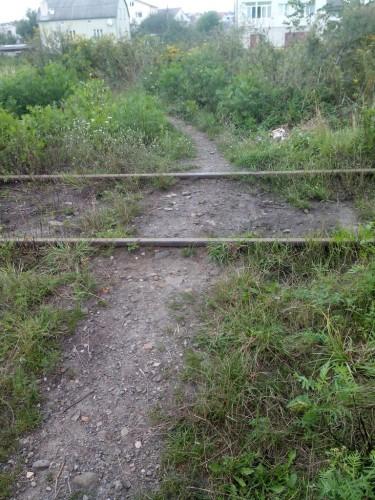 Линия в селе Рясное-Руськое используется несколько раз в год для вывоза песка из карьера