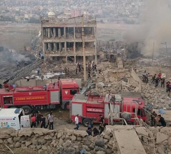 Появились кадры сместа мощного взрыва вТурции