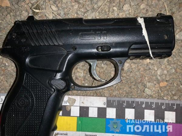 У вора нашли пистолет