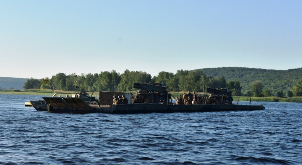 Взвод БМ-21 прикрывал передовой отряд десантников