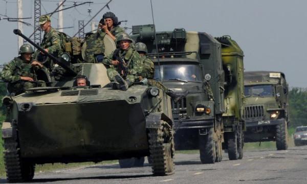 На Донбасс прибыла военная техника из России
