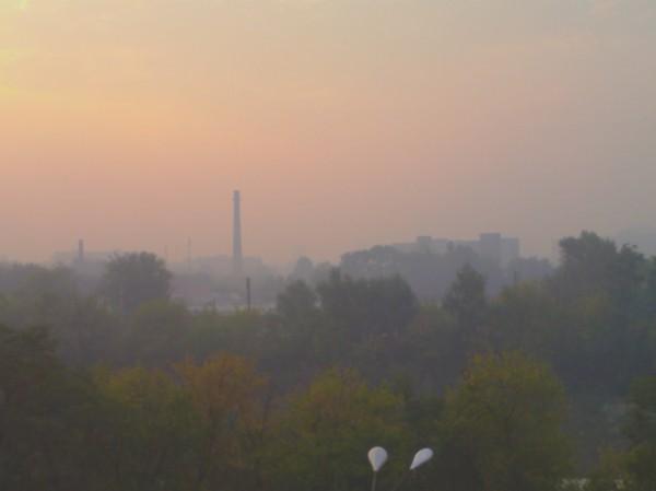Третьего сентября Киев затянуло дымом