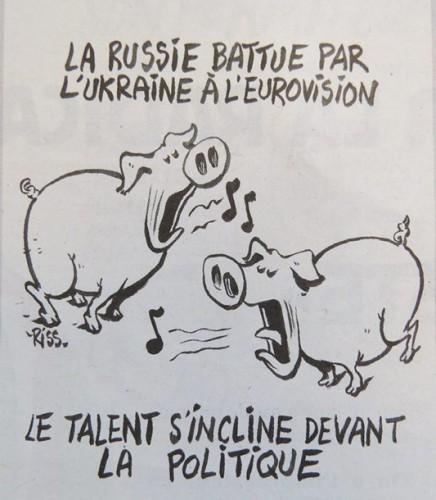 Карикатуристы увидели в результатах евровидения политический подтекст