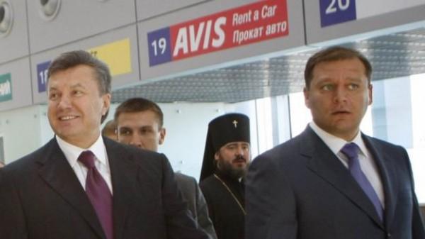 Янукович и Добкин во время открытия аэропорта в Харькове, 2010 год