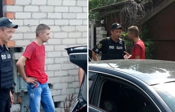 При виде бойцов Азова один из пьяных потерял равновесие
