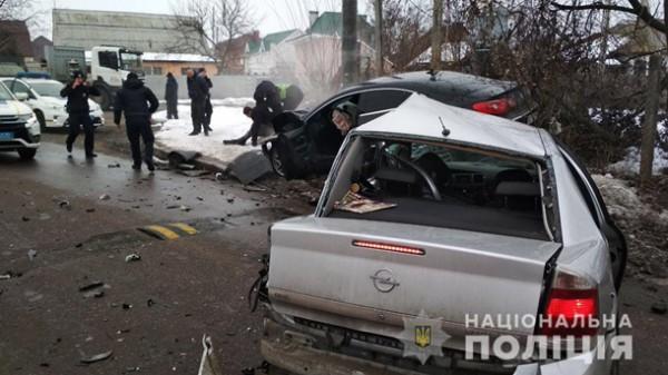 Водитель Opel погиб на месте, пассажир получил травму