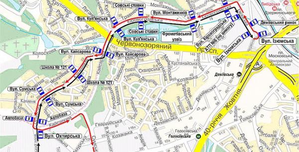 В Киеве изменили схему движения автобусного маршрута 19 - Новости ДеПо.