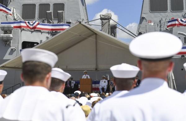Выступил глава Тихоокеанского командования США адмирал Гарри Б. Харрис-младший