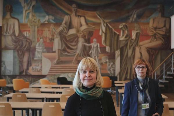 Работник библиотеки литовского города Шауляй Инга Лекманиене