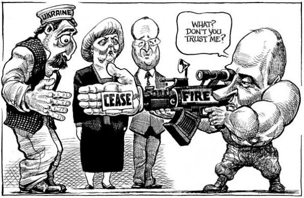 Вместо Порошенко на карикатуре нарисовали Лукашенко