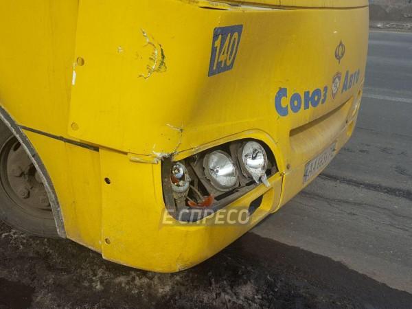 Троллейбус уехал с места аварии