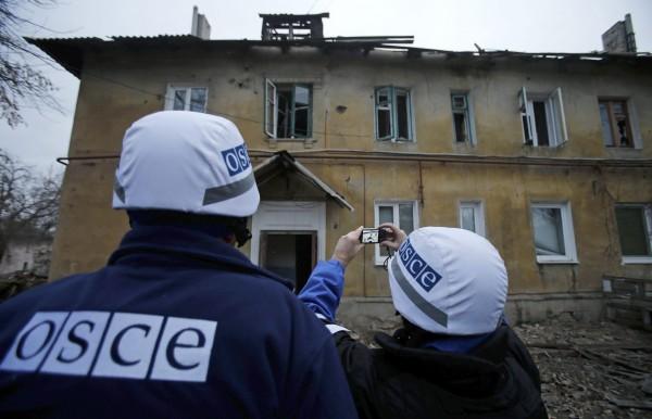Миссия ОБСЕ зафиксировала обстрелы