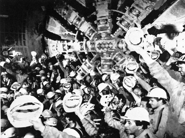 Строительство тоннеля под Ла-Маншем