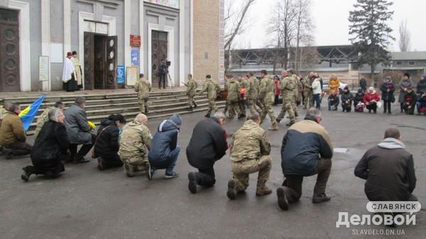 В Славянске прощаются с погибшим на Донбассе 20-летним бойцом