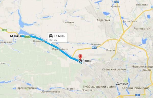 Бои 23 мая проходили в районе Карловки. Потом боевики отошли в Пески.