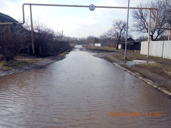 Вода затапливает Макеевку