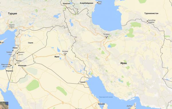 Телеканал Россия 24 нашел на карте границу Ирана и Сирии