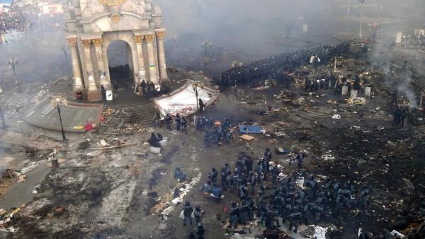 Утро на Майдане 19 февраля