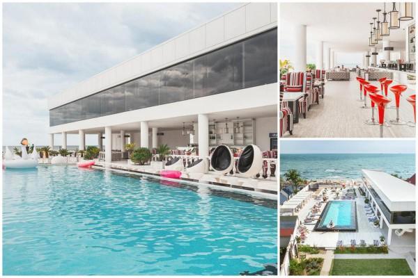 На территории отеля расположен бассейн и есть собственный пляж